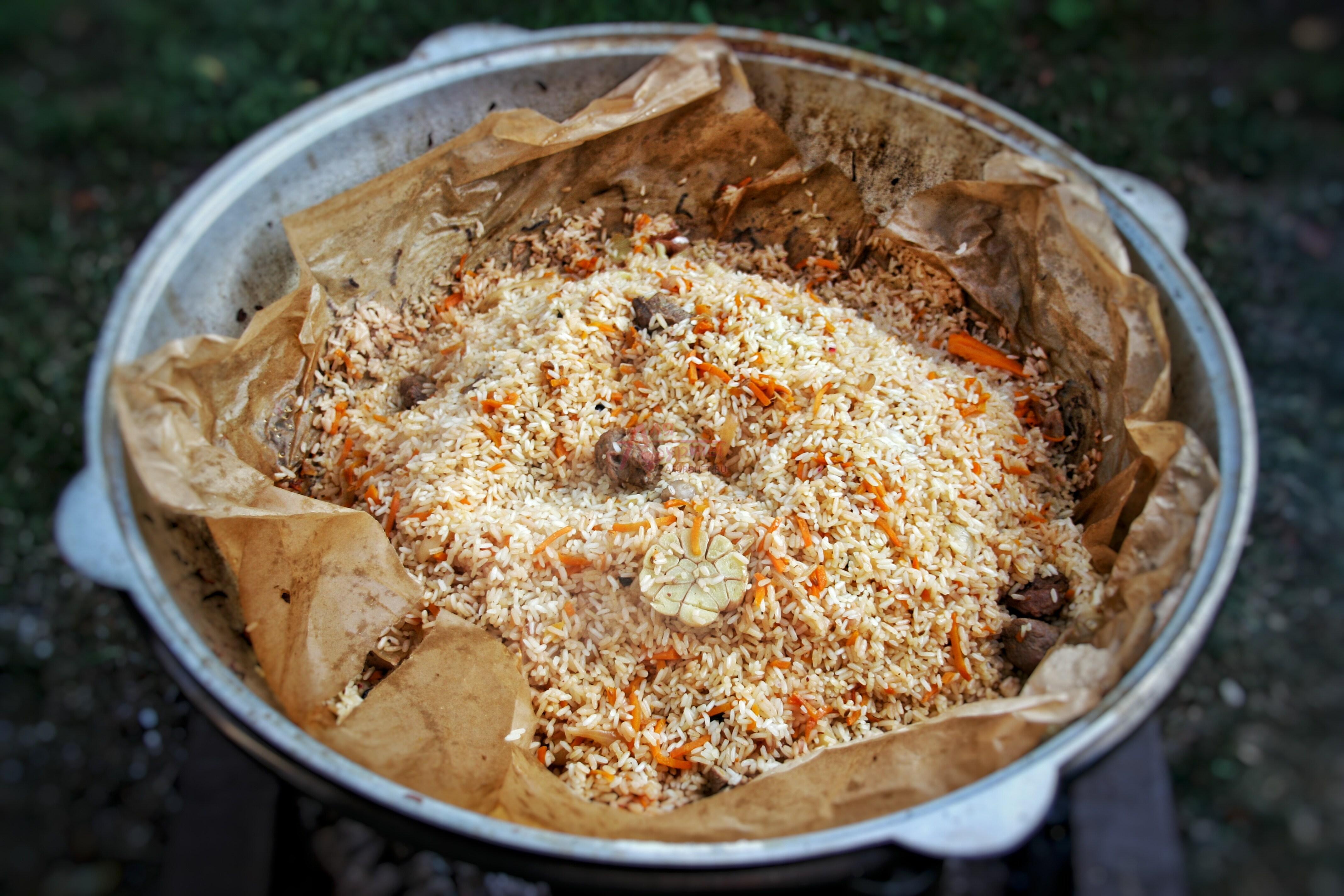 Плов узбекский с бараниной в казане рецепт пошагово в
