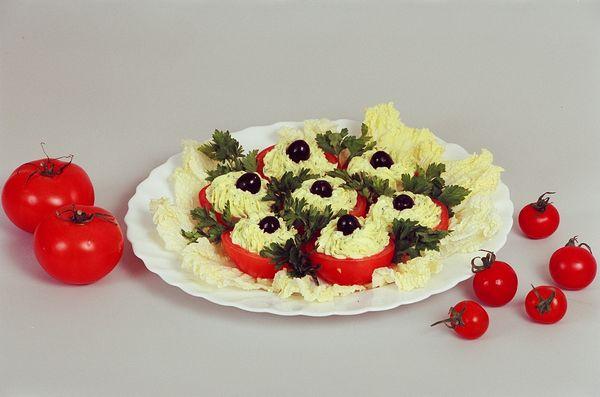 Холодные банкетные закуски из овощей в фотографиях